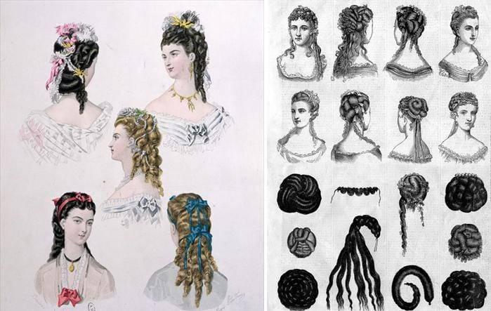 Сделать прическу дамы 19 века
