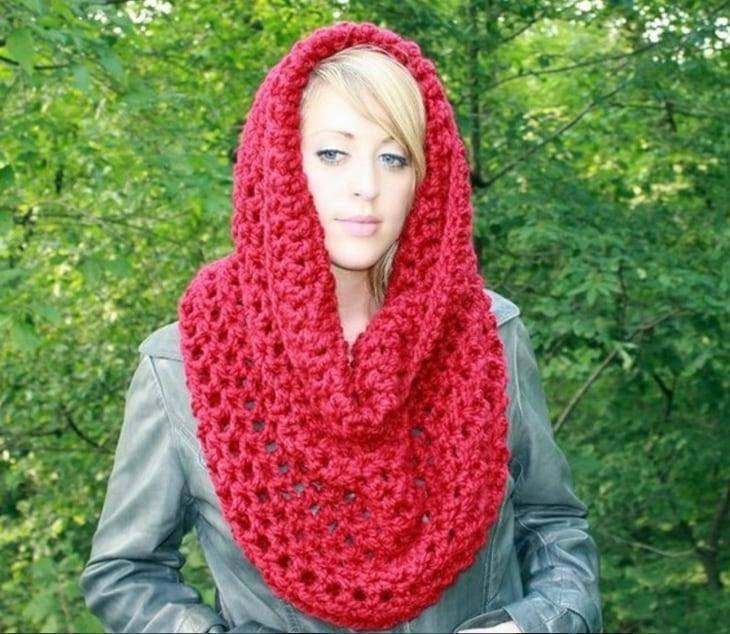 Как связать снуд шарф своими руками крючком 4