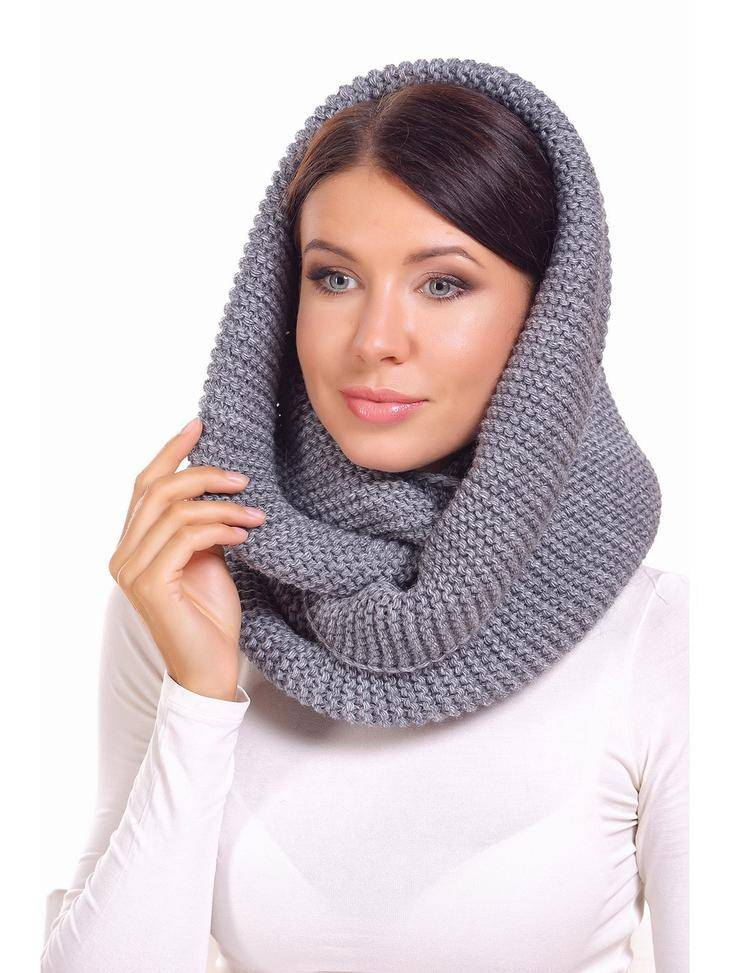 как связать модный шарф хомут снуд шарф капюшон и шарф с крупными